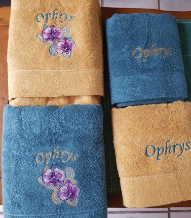 Motif brodé Ophrys